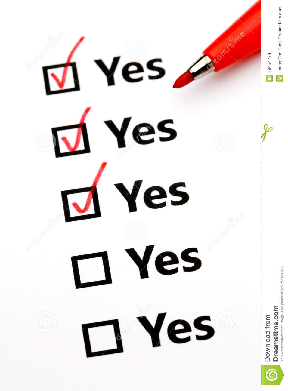 Yes No Check Box Vector Stock Vector 186391421 - Shutterstock |Check Box Yes