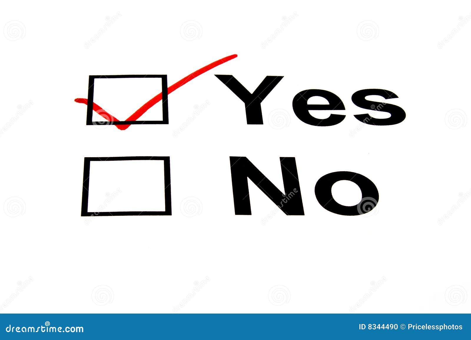 Yes Check Box Stock Images - Image: 17107374 |Check Box Yes