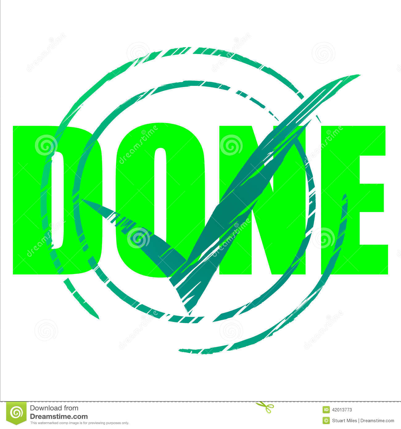 Yes Done Means Tick Symbol And Ok Stock Illustration - Image: 42013773