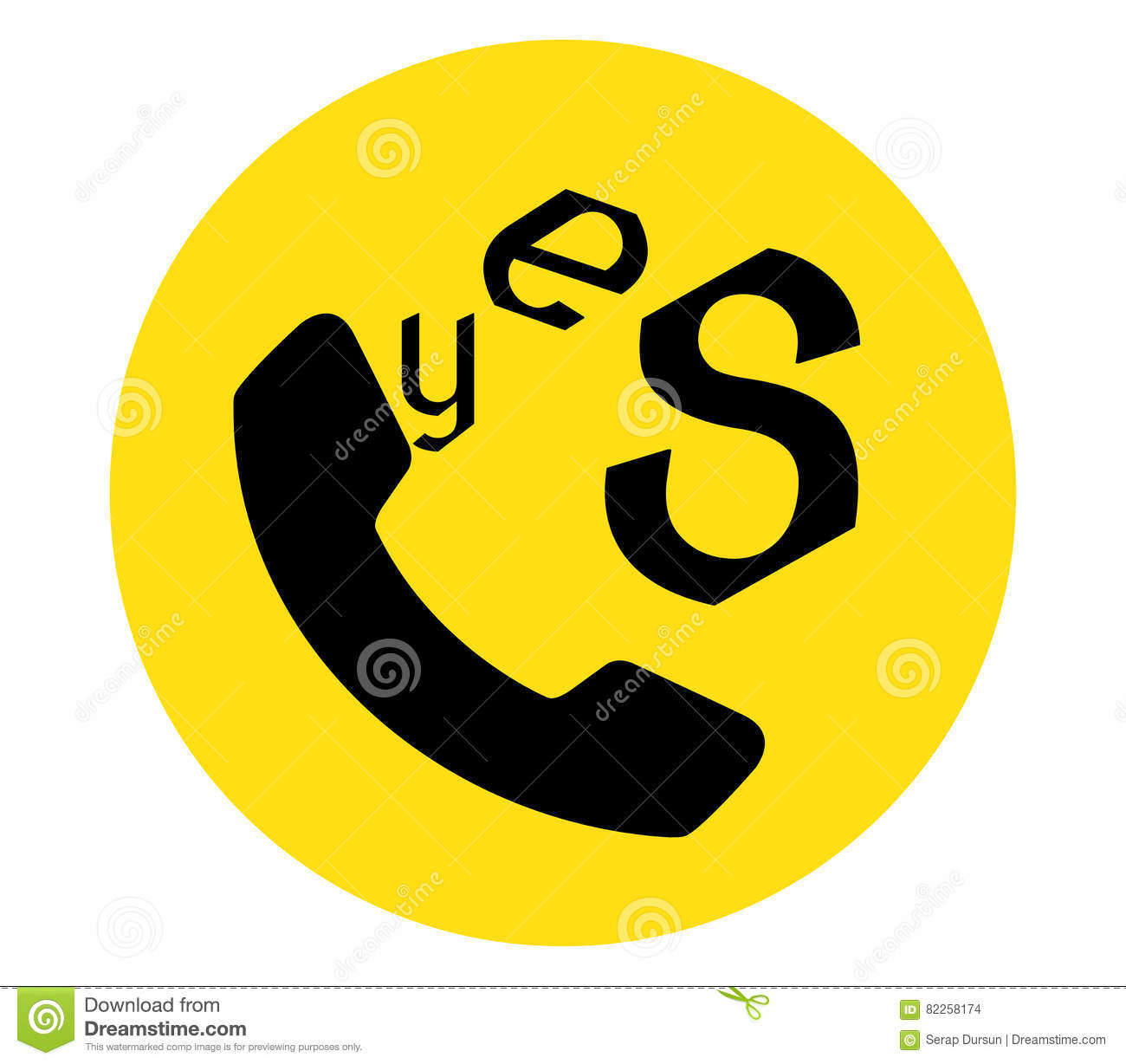 yes icon for phone stock illustration illustration of isolated