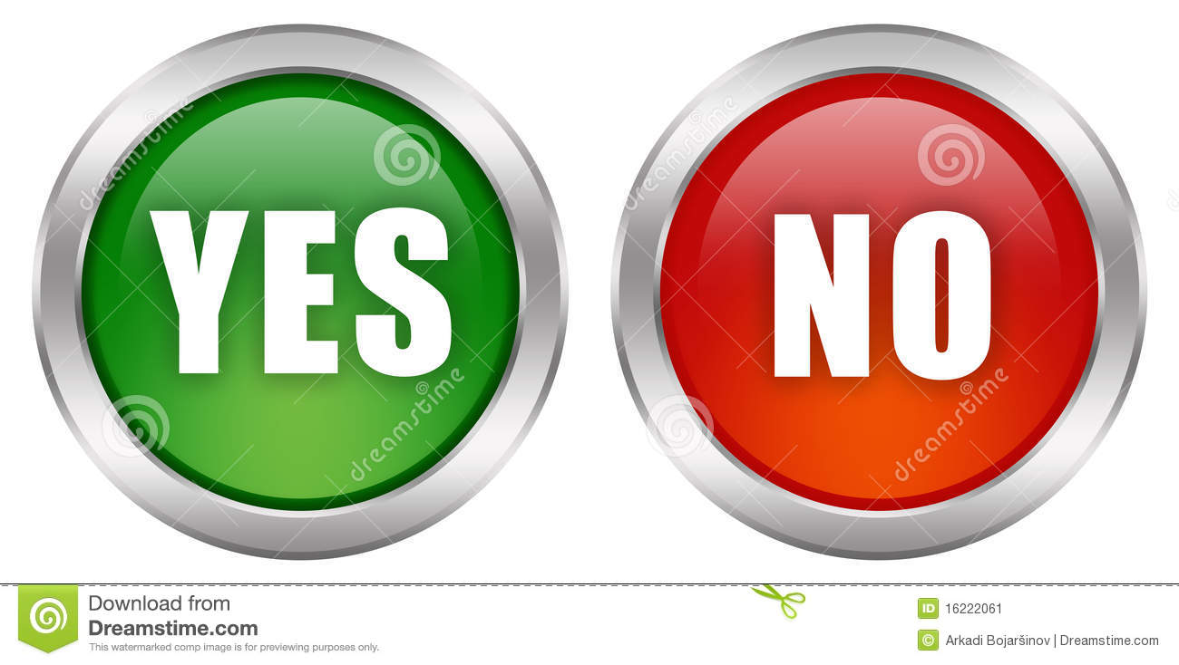 Yes No Button Stock Image - Image: 16222061