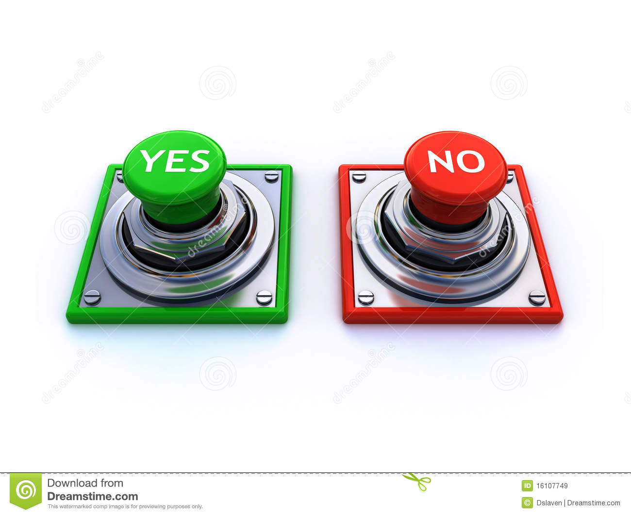 Yes and no buttons stock illustration. Illustration of ...