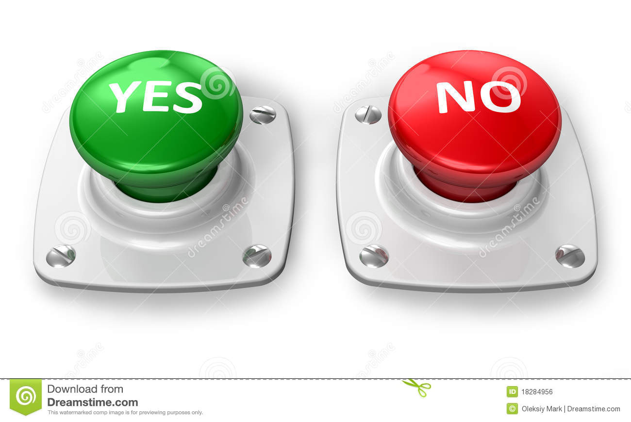 Yes And No Buttons Royalty Free Stock Image Image 18284956