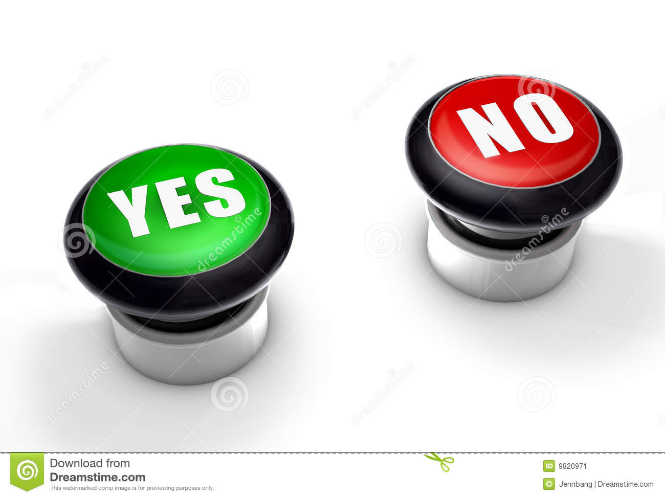 Yes Or No Buttons Stock Image - Image: 9820971