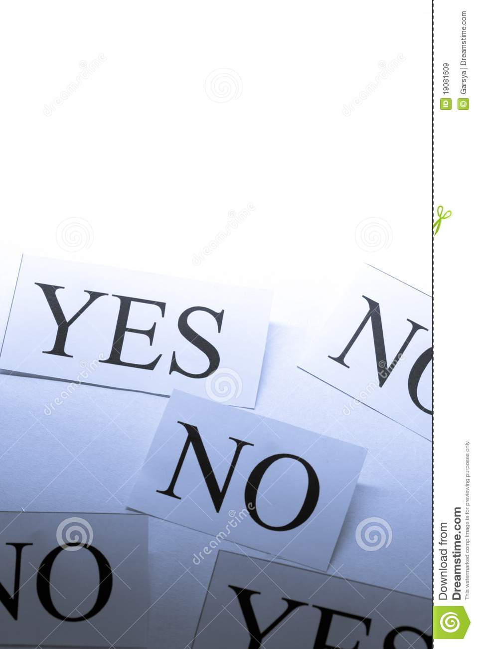 Yes And No Cards Royalty Free Stock Images