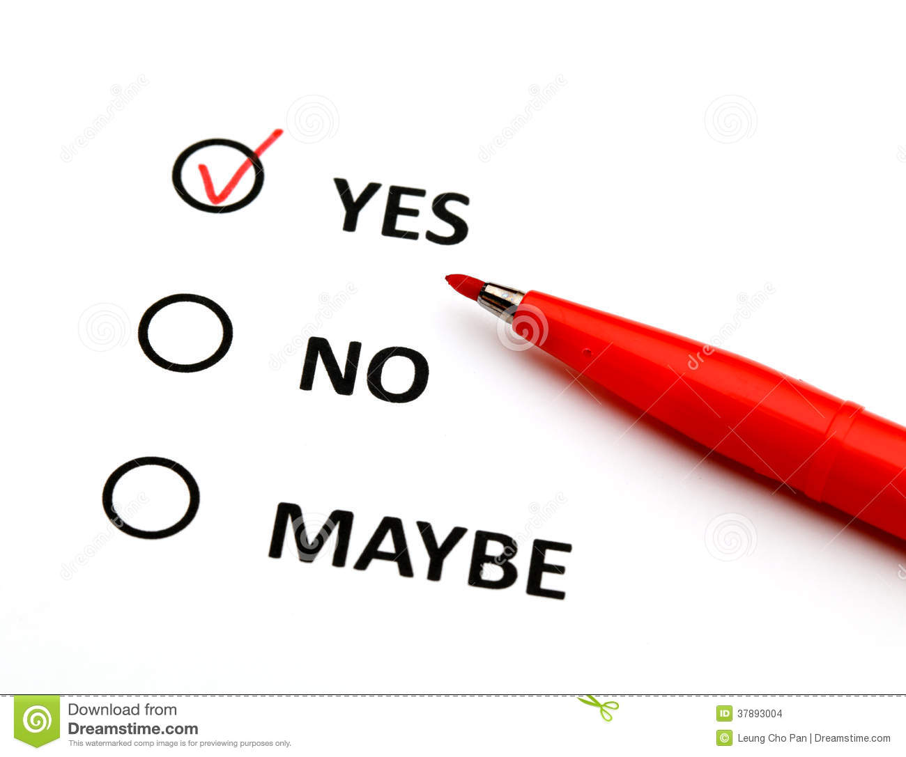 Yes Or No Check Box Stock Images - Image: 37893004