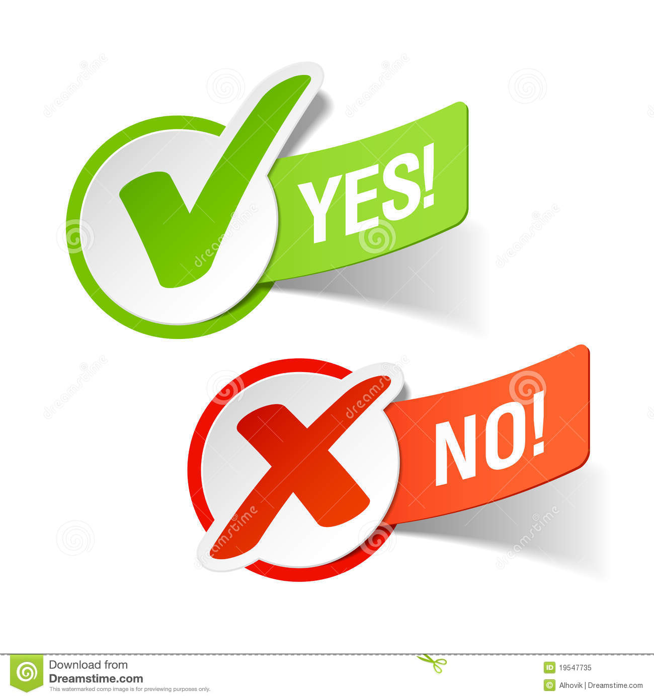 clipart for yes and no - photo #37