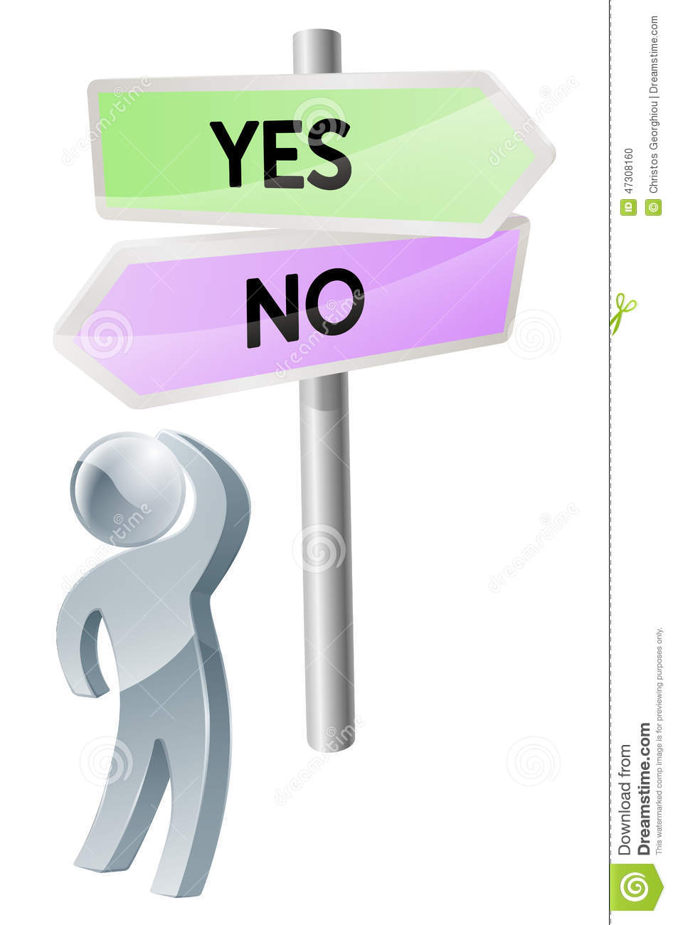 Yes Or No Decision Stock Vector