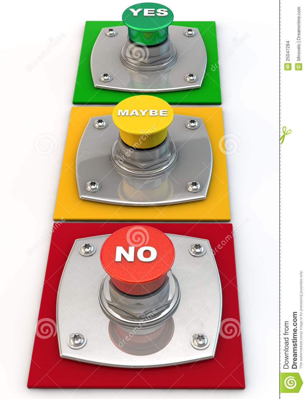 Yes No Maybe Button Stock Images - Image: 25047284