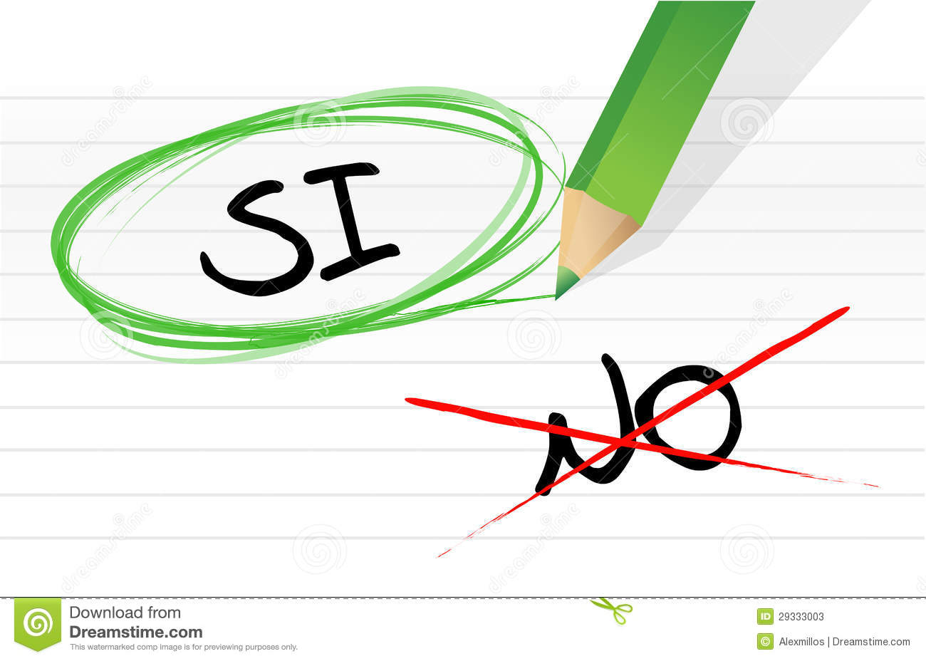 Yes And No Selection In Spanish Stock Photos Image 29333003