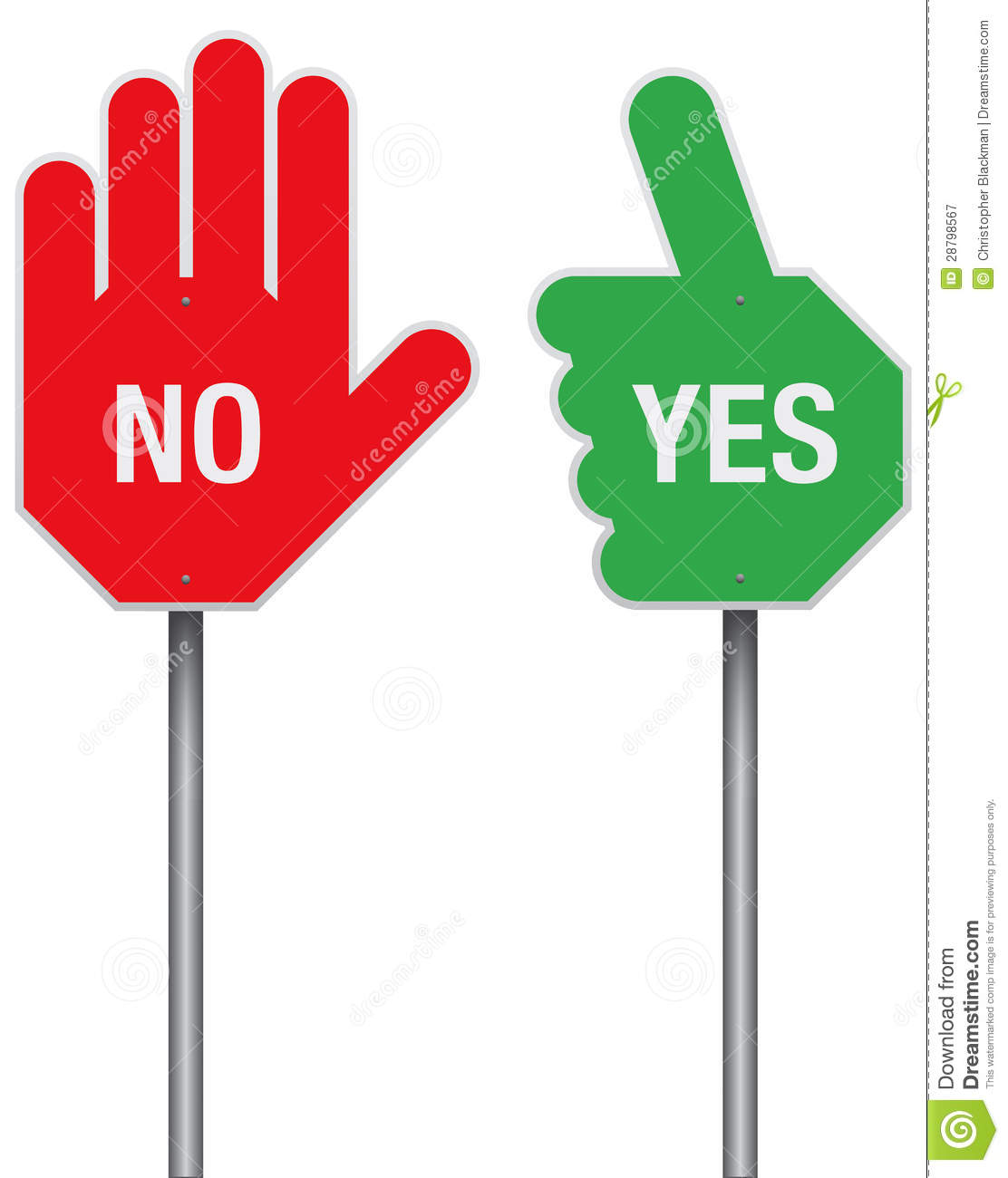 Yes And No Signs Stock Vector. Illustration Of Message