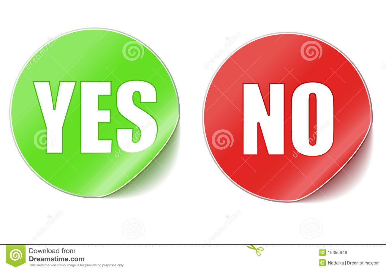 Yes or no stickers stock vector illustration of buttons 16350646 yes or no stickers buycottarizona Gallery