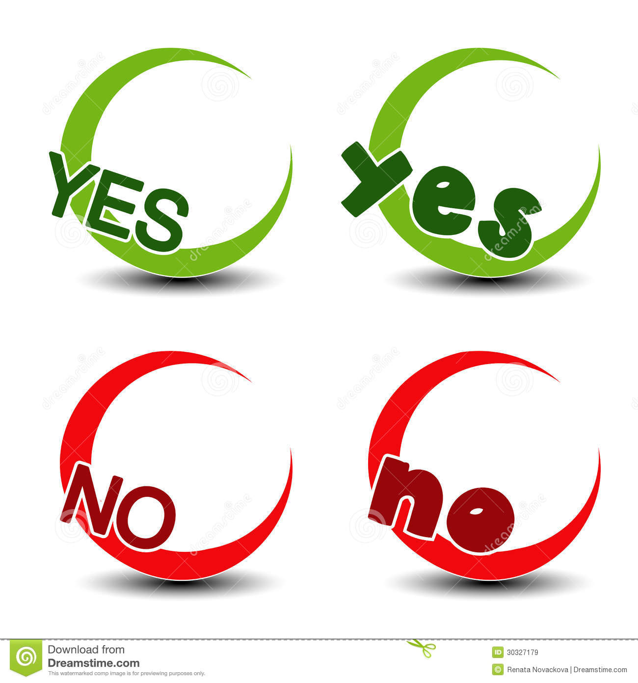 Yes no symbol positive negative icon stock vector illustration royalty free stock photo buycottarizona