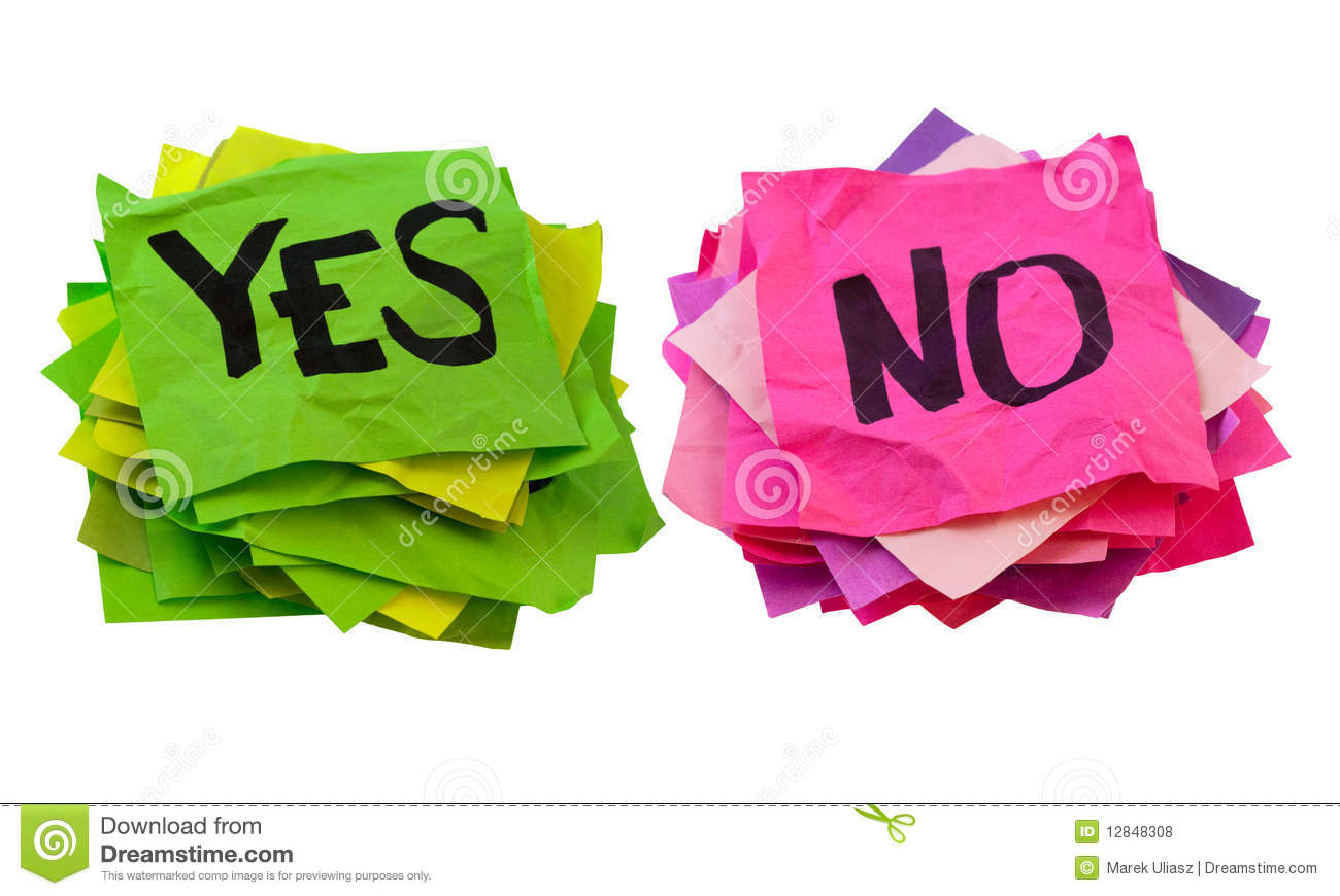 clipart for yes and no - photo #24