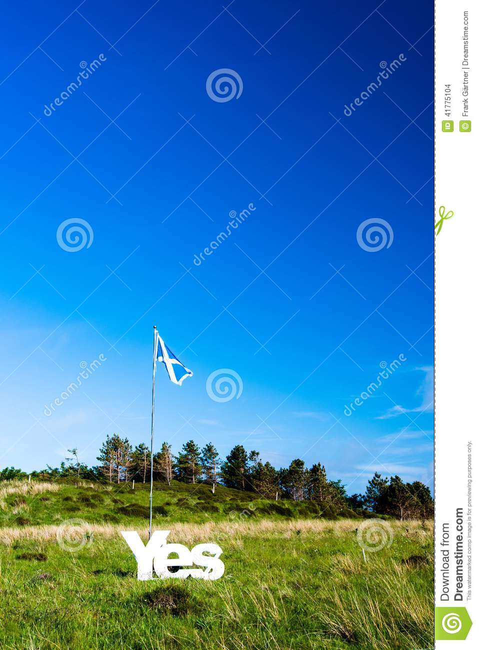 Yes for Scotland becoming independent