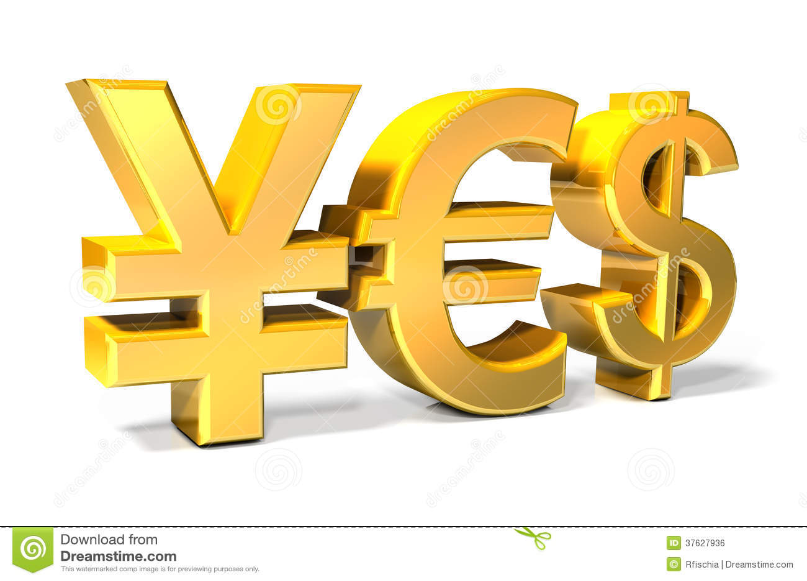 Yes yen euro dollar gold icons stock illustration yes yen euro dollar gold icons biocorpaavc