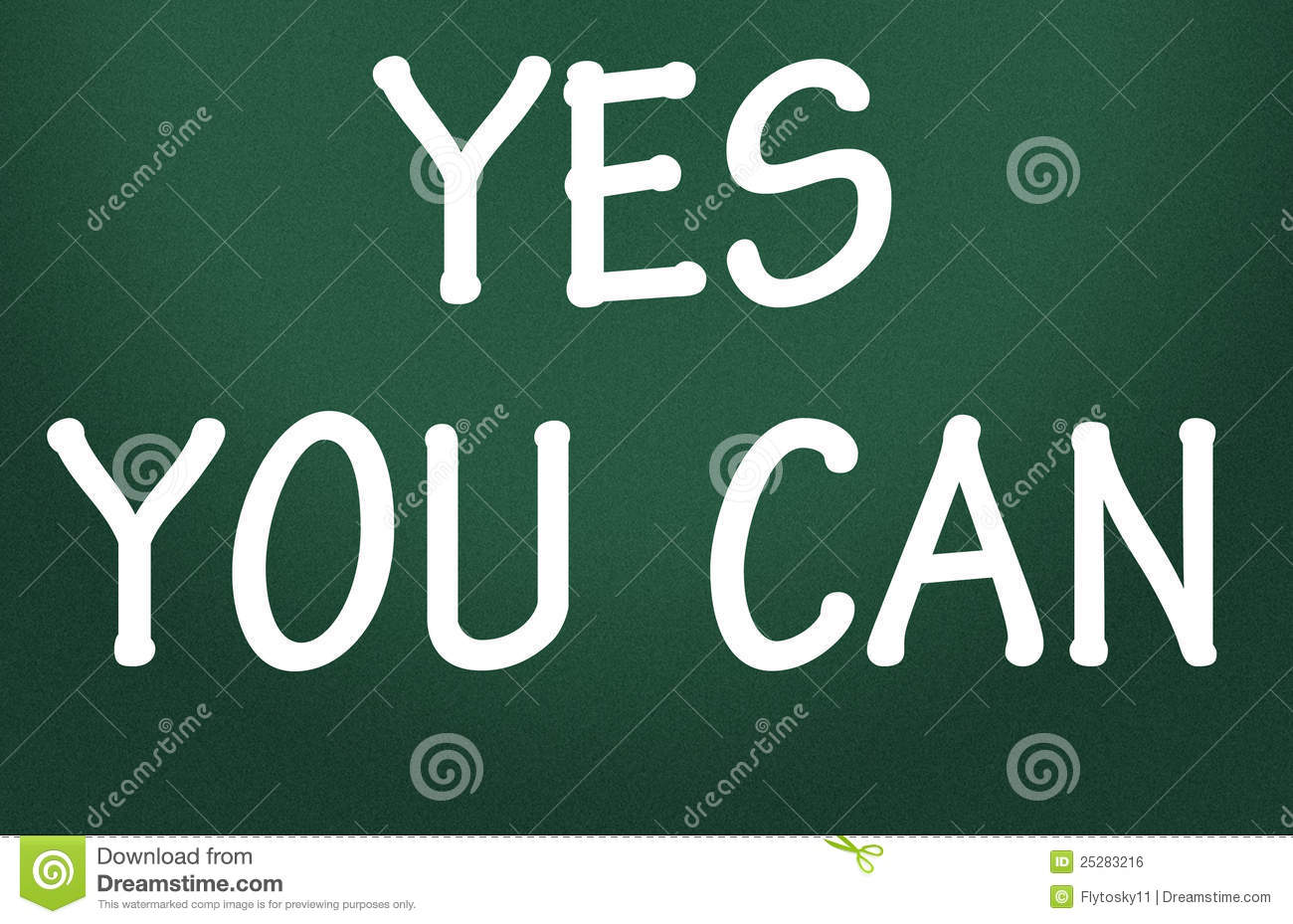 Yes You Can Symbol Royalty Free Stock Image Image 25283216