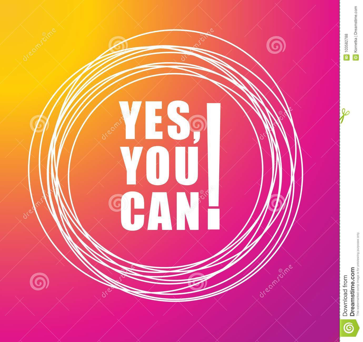 yes you can text on color background motivational quotes stock