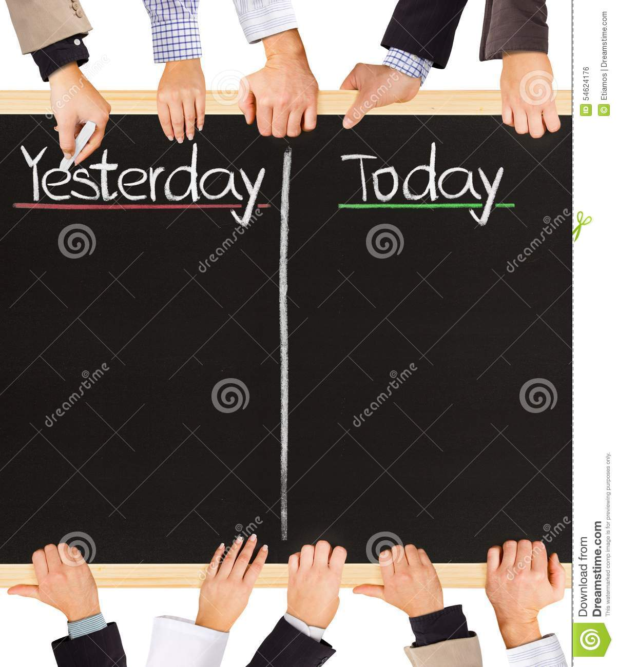 Yesterday, Today Stock Photo - Image: 54624176