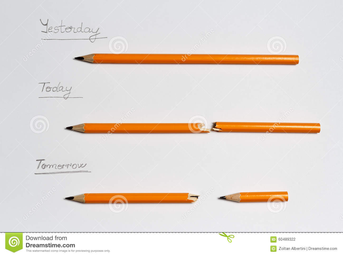 Yesterday, Today, Tomorrow Stock Photo - Image: 60489322