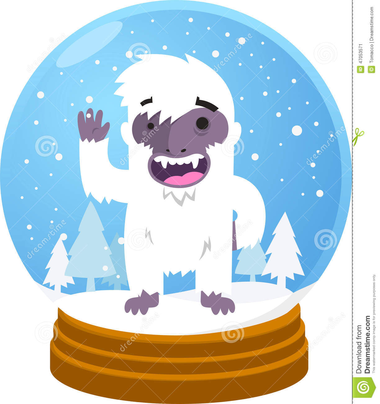 yeti snow globe stock illustration illustration of pets apa clip art citation apa clip art citation