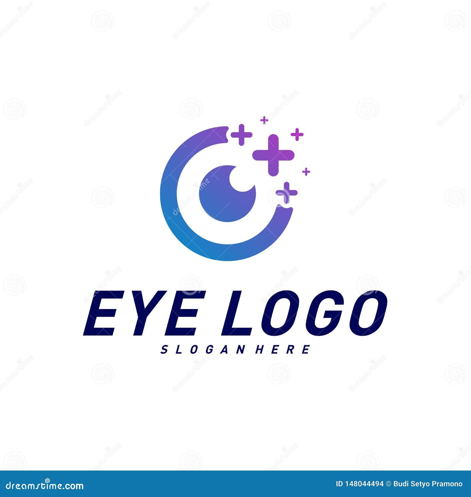 Yeux avec le vecteur de concept de construction de logo de santé d icônes Calibre de logo d oeil de santé Symbole d ic?ne