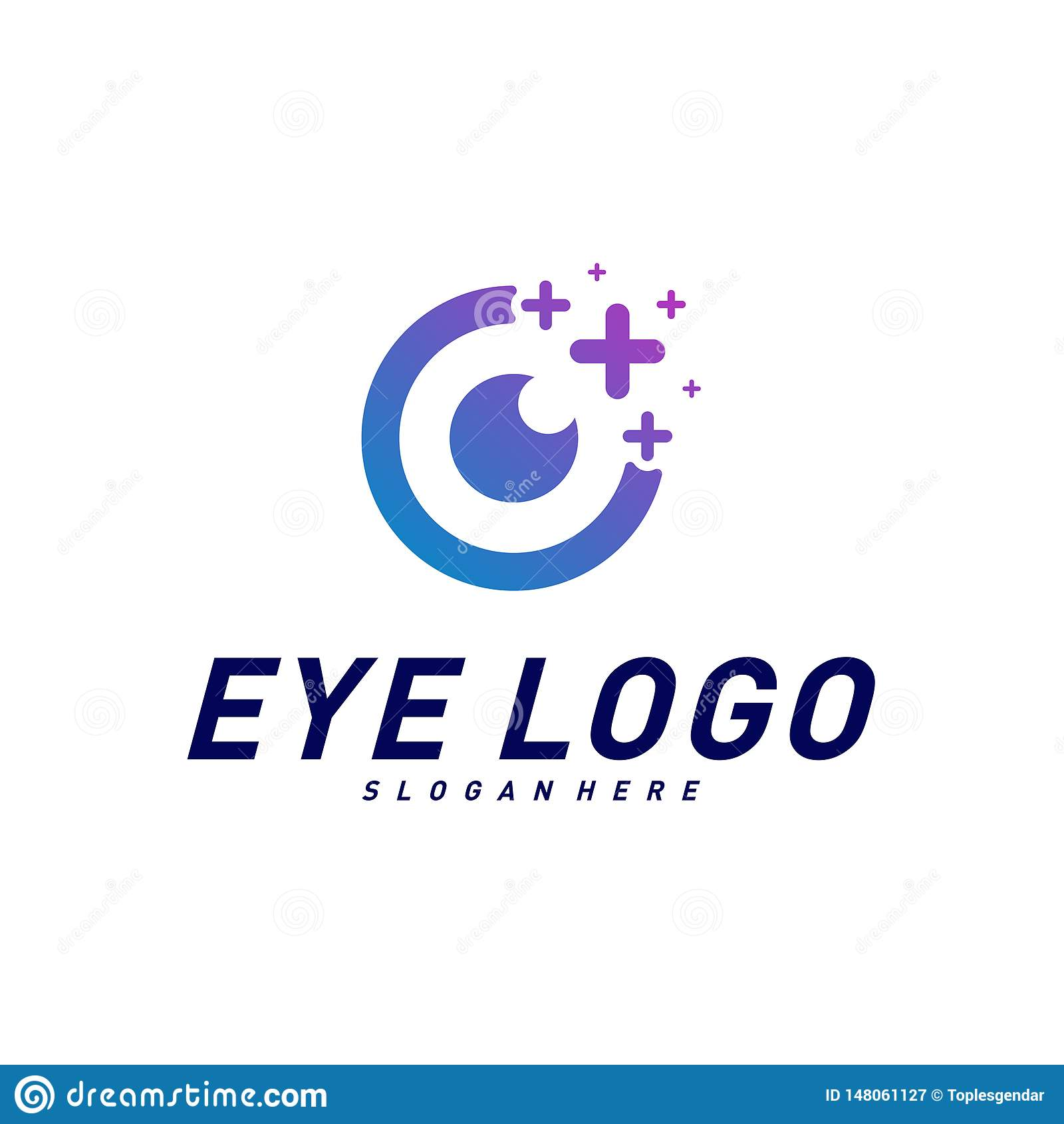 Yeux avec le vecteur de concept de construction de logo de sant? d ic?nes Calibre de logo d oeil de sant? Symbole d ic?ne
