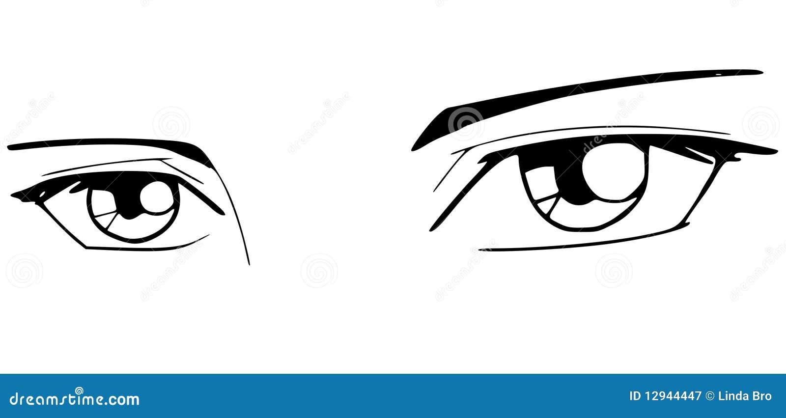 Yeux de manga photographie stock libre de droits image for Photographie de stock