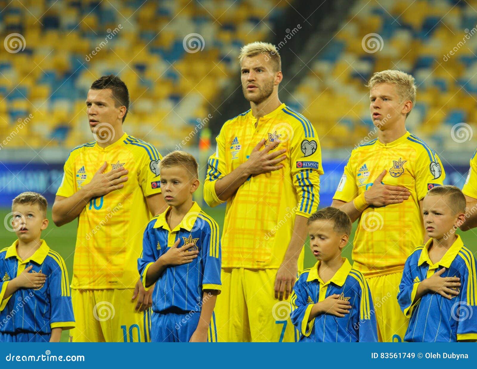 Yevhen Konoplyanka Andriy Yarmolenko And Oleksandr Zinchenko