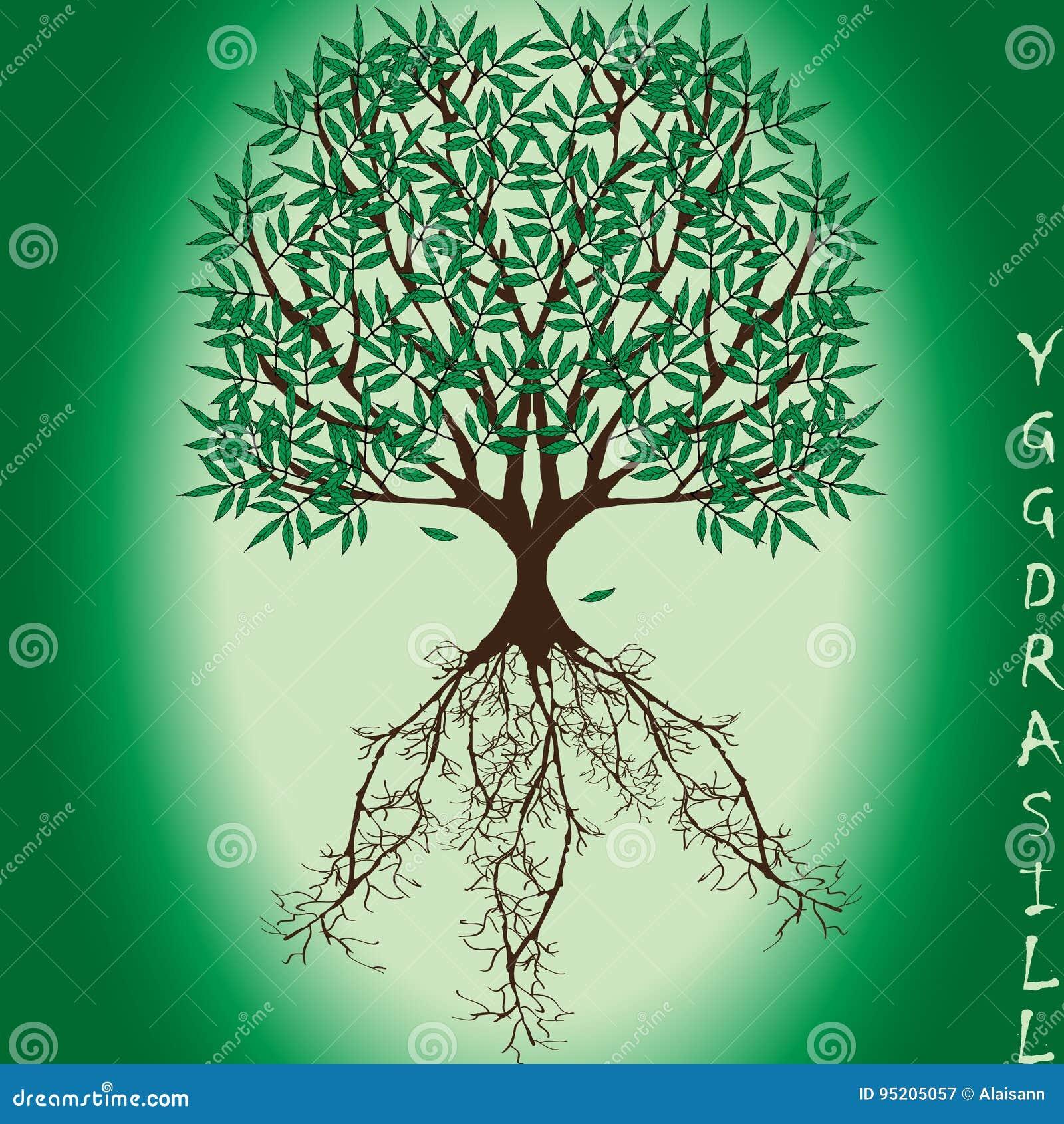 nouveau produit 8c895 137f7 Yggdrasil – Vector World Tree From Scandinavian Mythology ...
