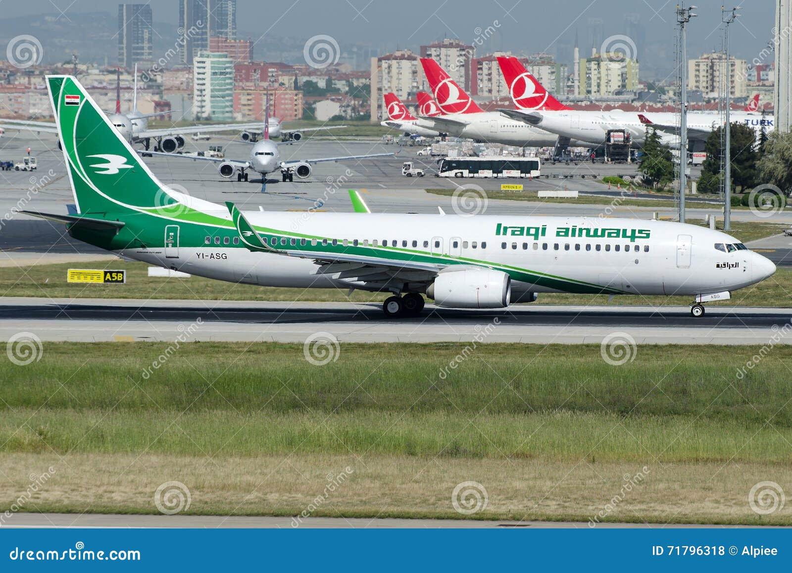 亚洲色囹��yi�yi�yolz)�_yi-asg伊拉克航空公司,波音737-81z 编辑类库存照片