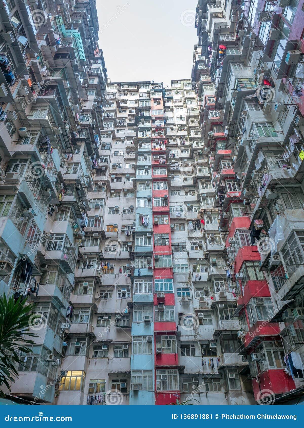 Yik Cheong Building In Hong Kong China Editorial Photo Image Of Kong Monster 136891881
