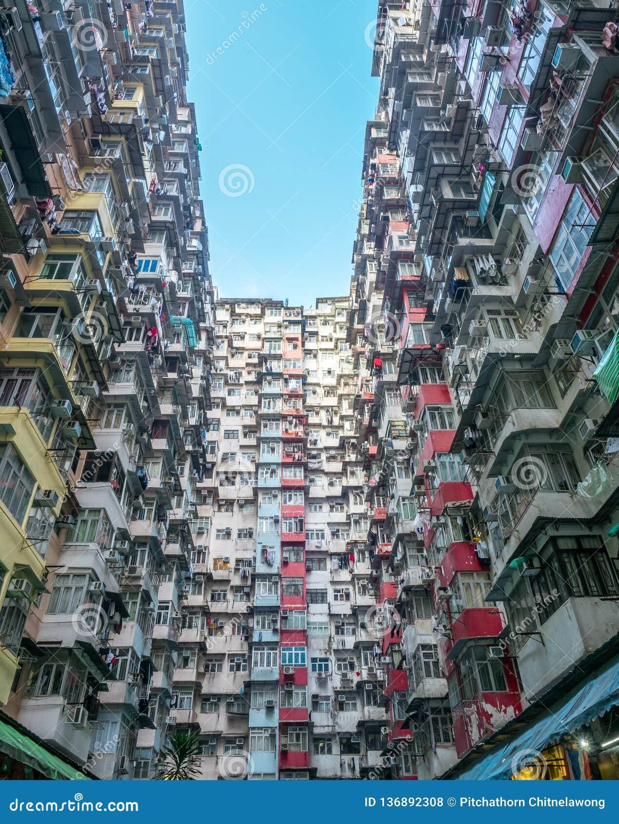 Yik Cheong Building In Hong Kong China Editorial Stock Photo Image Of Hong Living 136892308