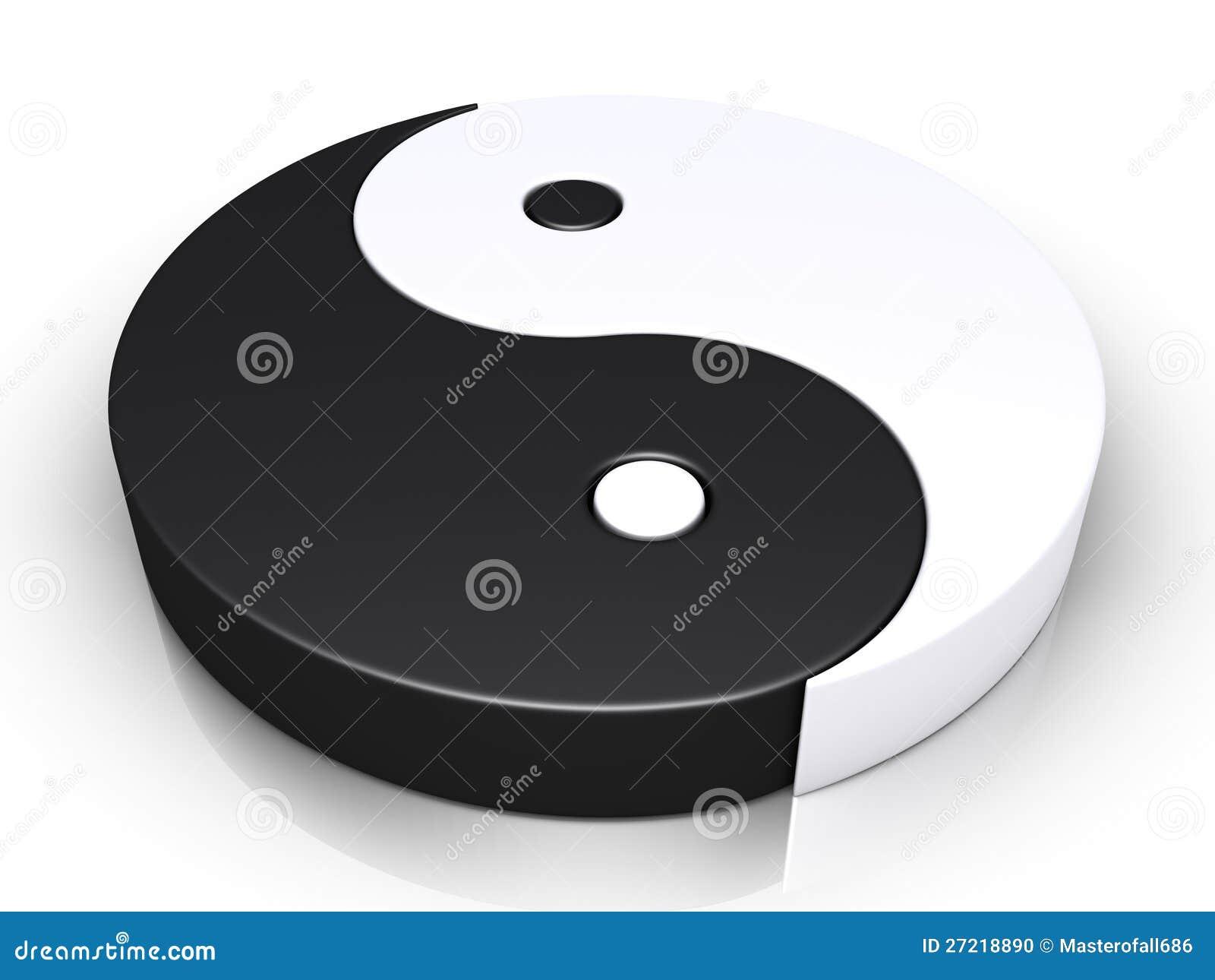 Yin και yang σύμβολο