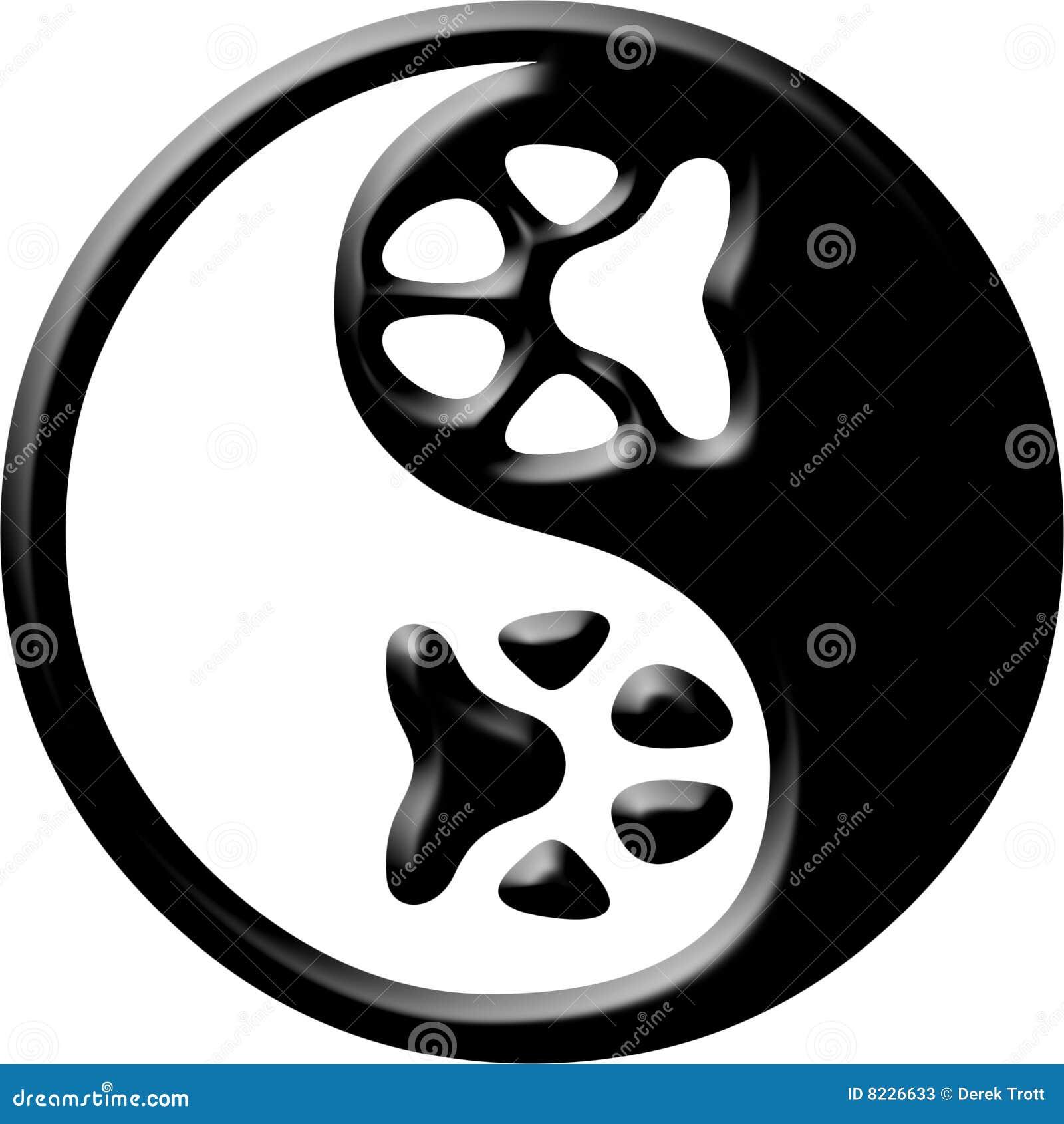 Yin de yang da cópia da pata