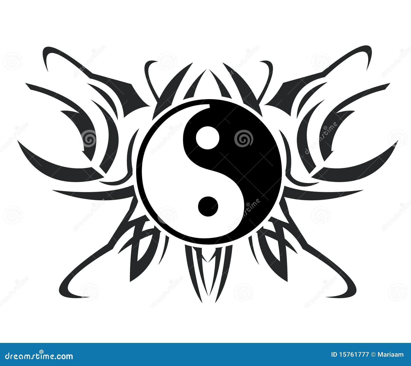Yin Et Tatouage De Yang Illustration Stock Illustration Du Abstrait
