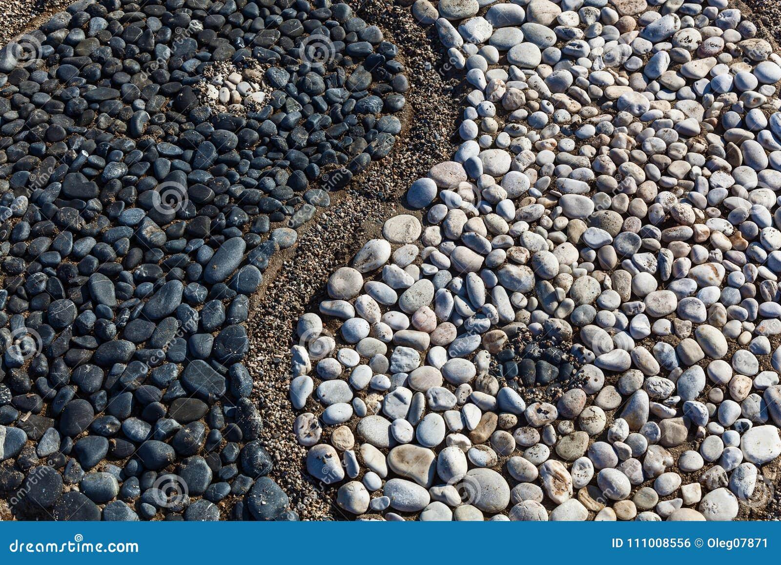 Yin och yang av stenar