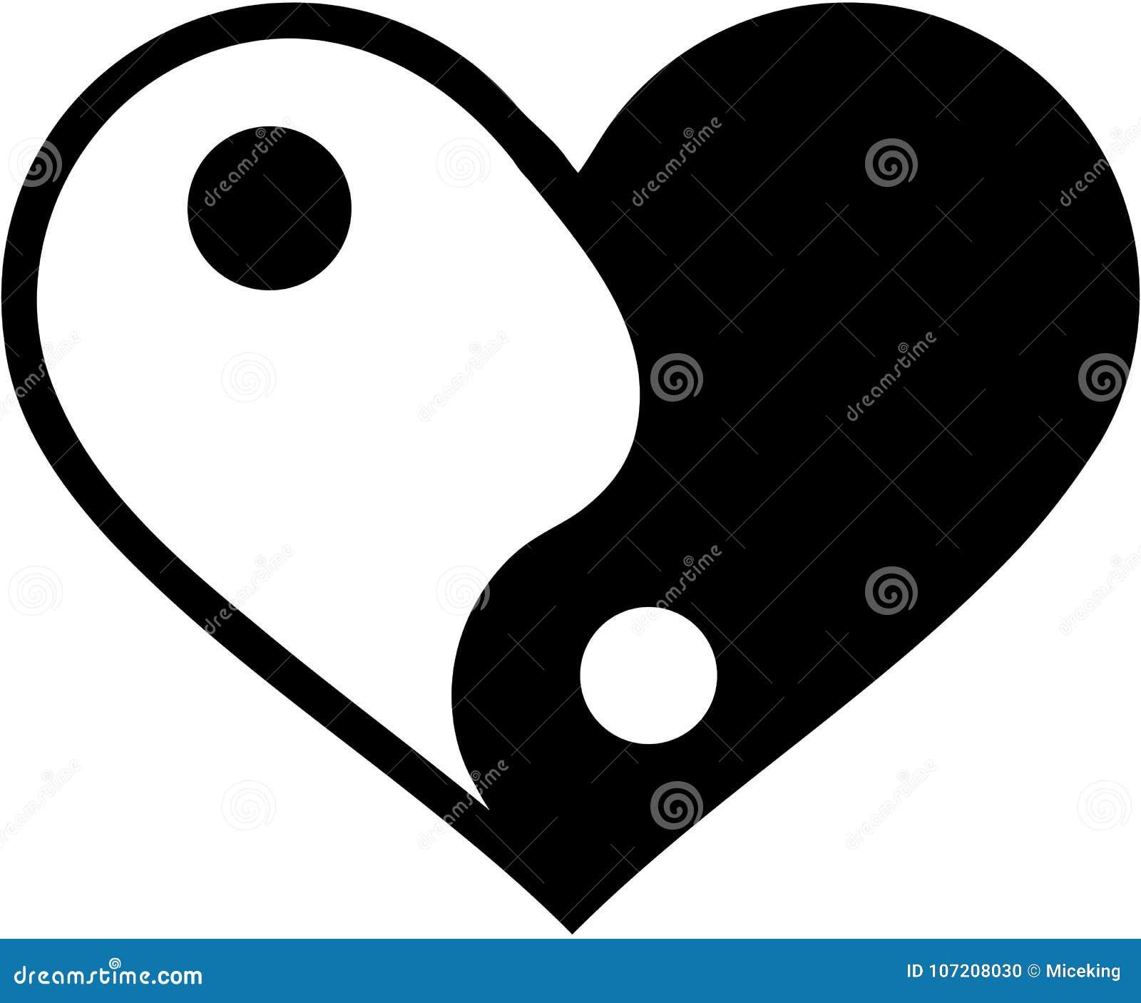 Yin yan heart
