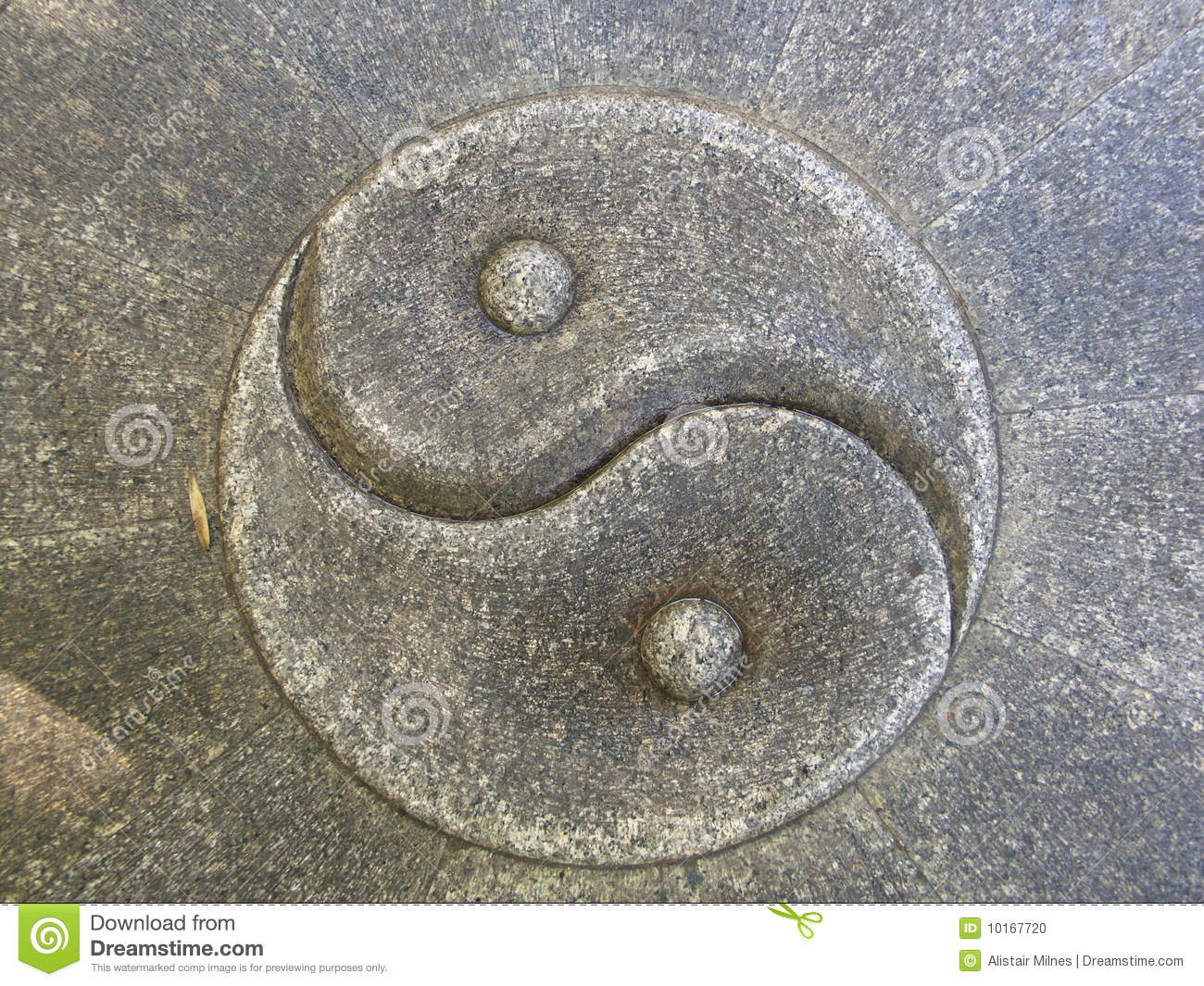 Yin and yang stock photo image