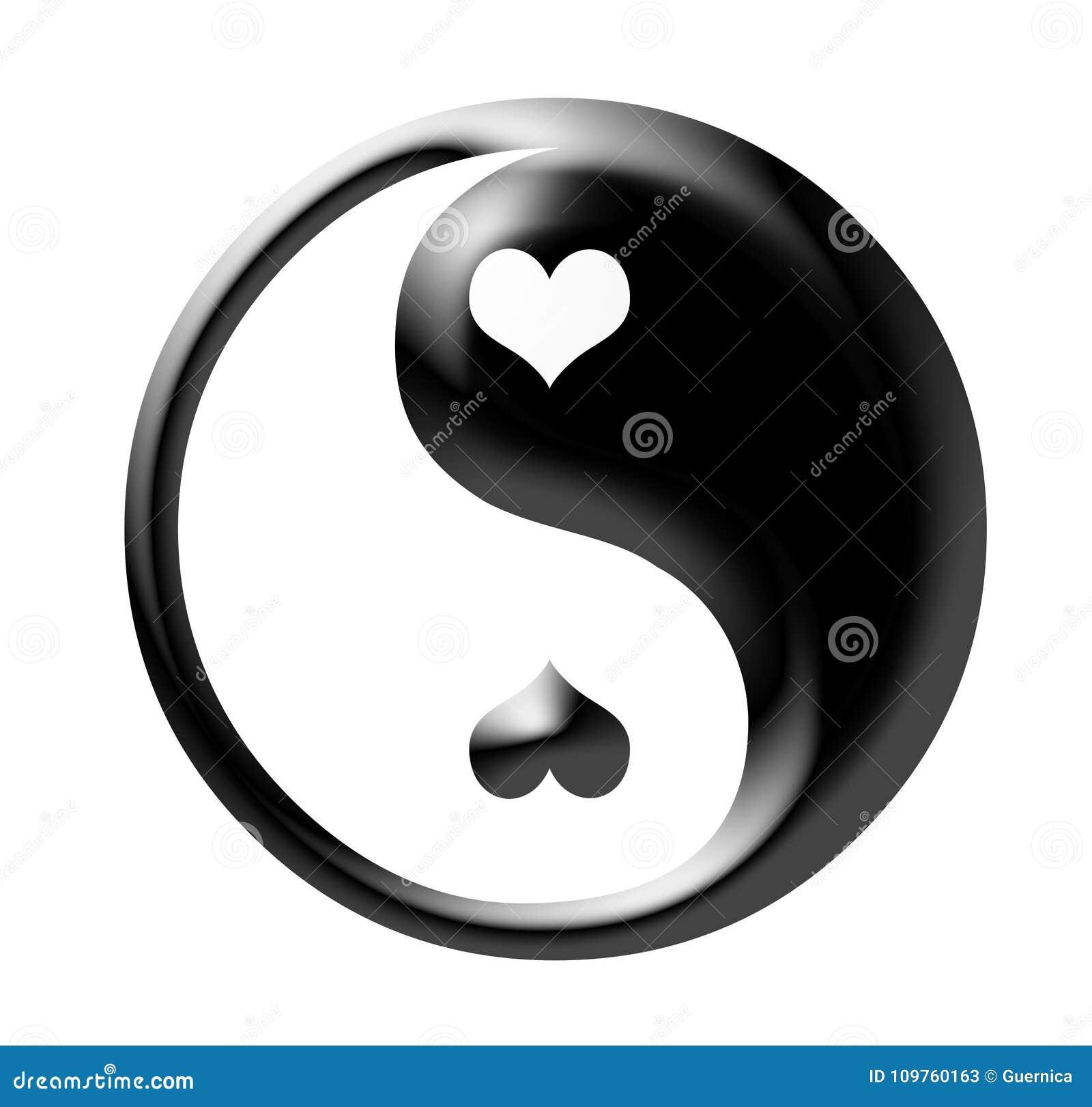 Yin Yang aisló en blanco