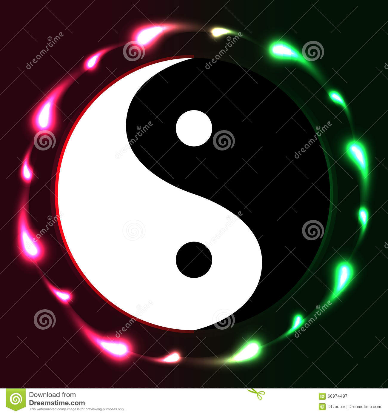 Yin yang circle bright stock vector image 60974497 for Architecture yin yang