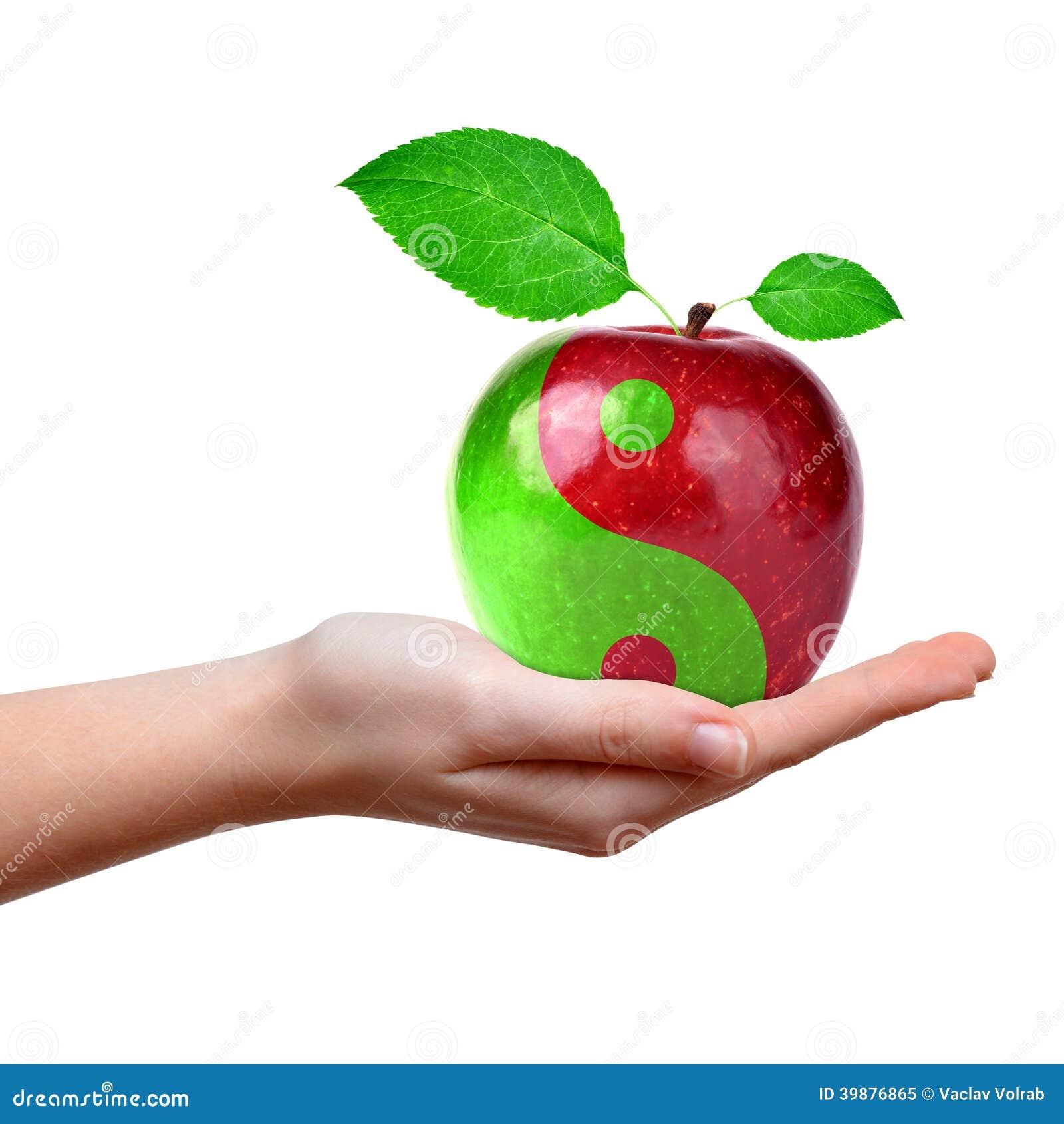 Yin Yang collage från äpplet