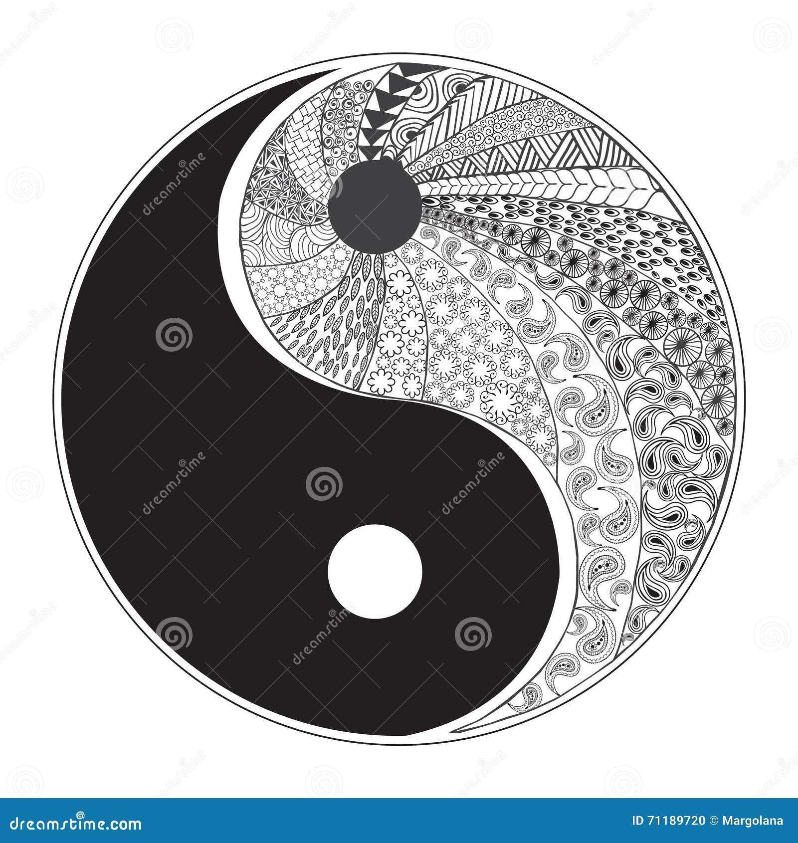 Sun Moon Yin Yang Tattoo Designs