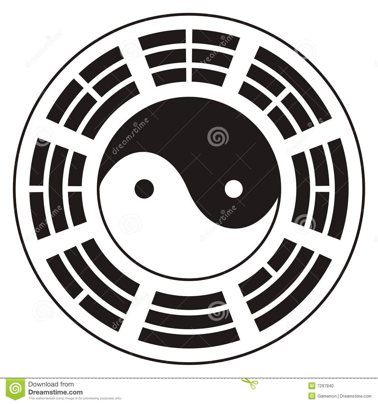 Yin yang design stock photo image 7297840 for Architecture yin yang