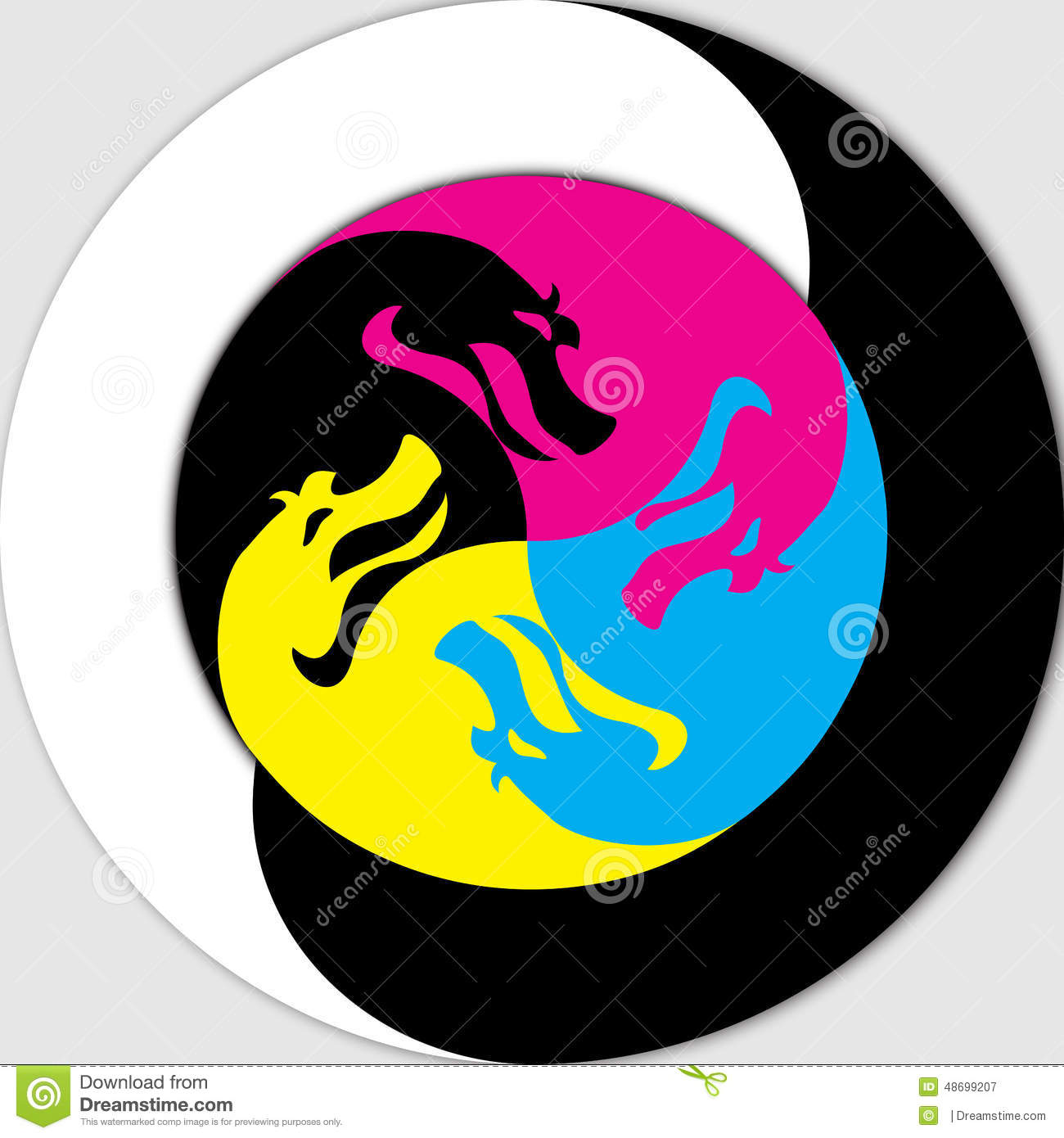 Yin Yang Dragon Stock Photos, Images, & Pictures - 273 Images