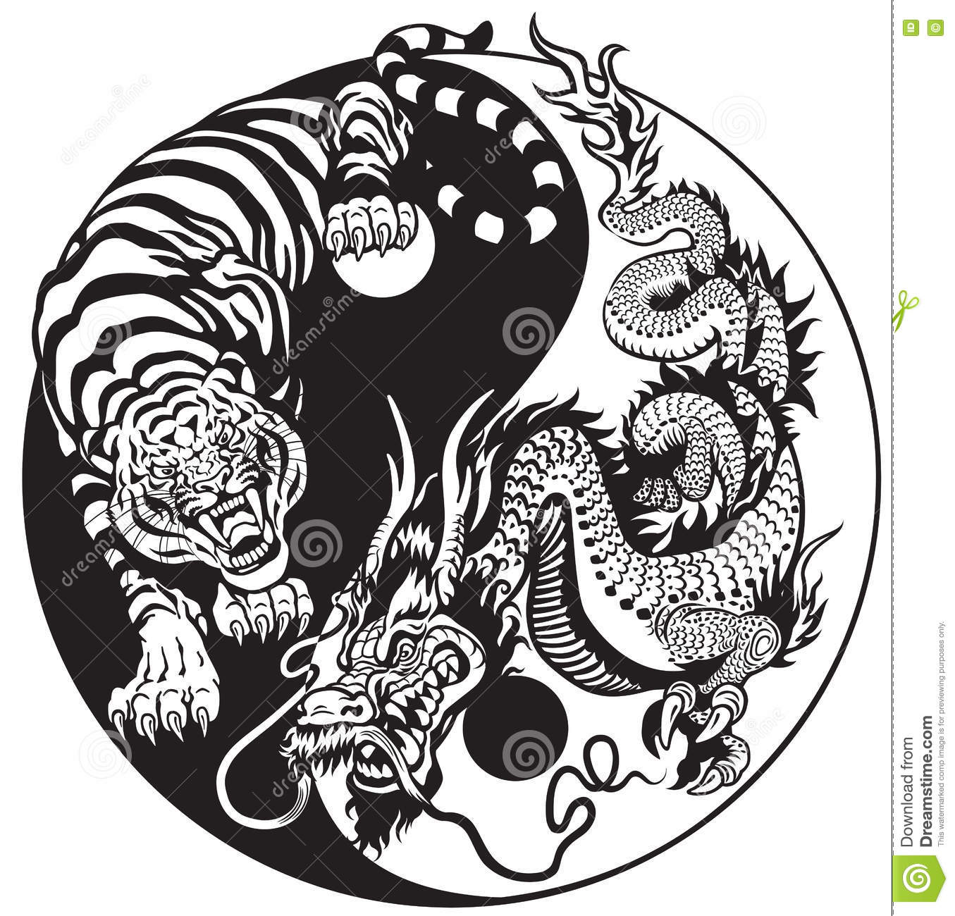 Showing post & media for Tiger dragon yin and yang symbol | www ...