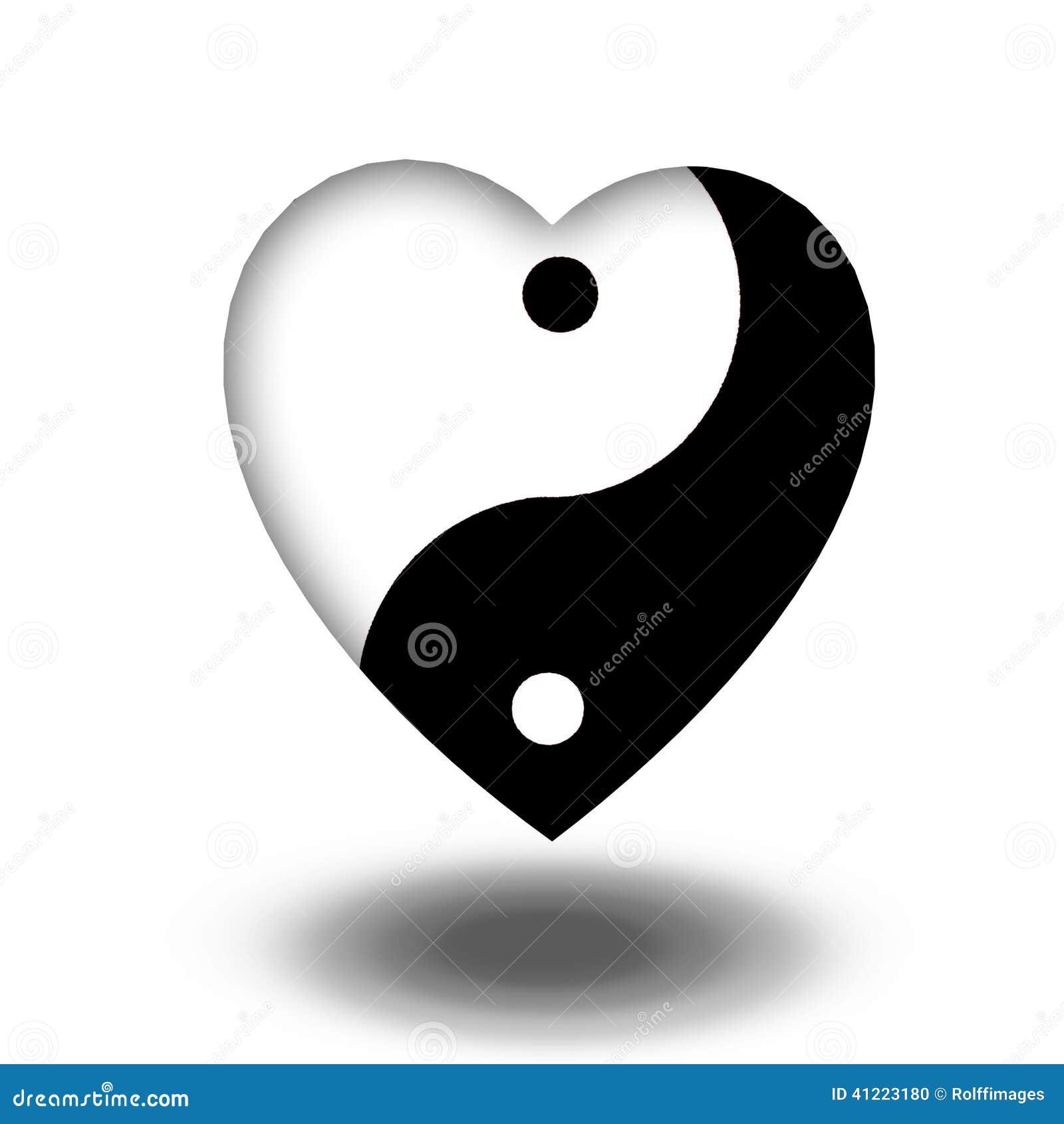 Yin yang heart stock illustratie afbeelding 41223180 for Yin yang raumgestaltung
