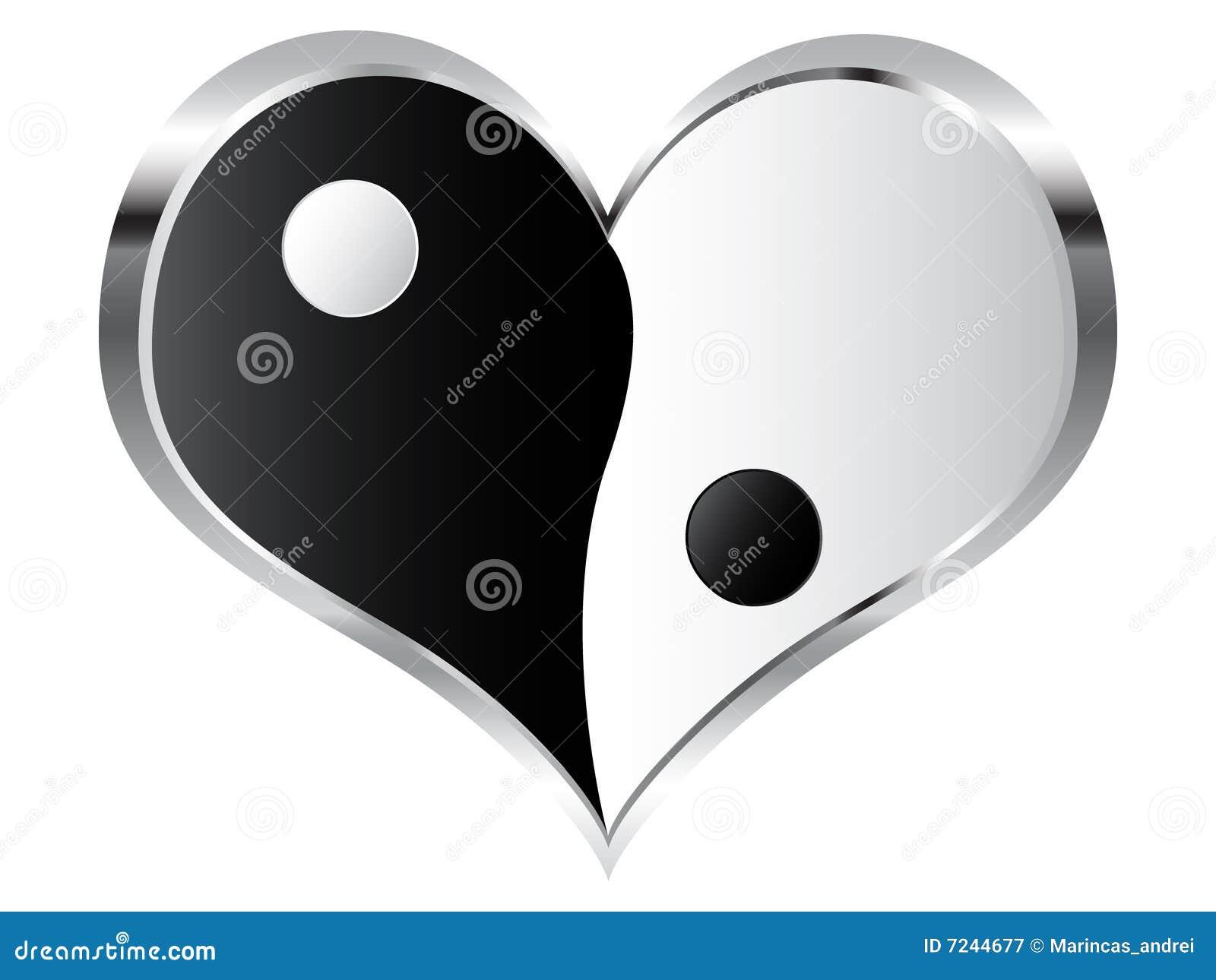 Yin and yang heart