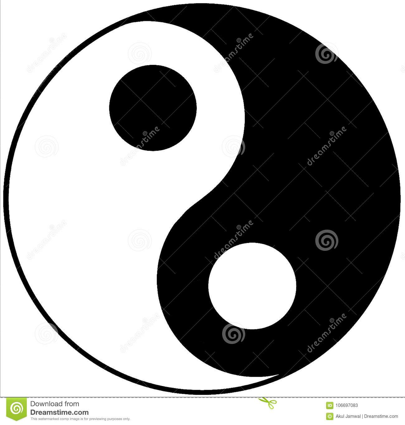yin yang vector illustration stock illustration illustration of rh dreamstime com Yin and Yang Meaning Love Yin Yang Color Meaning