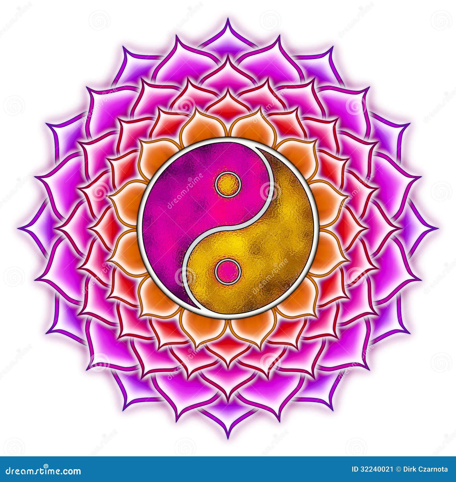 Flower Yin Yang Drawing Hairstyle
